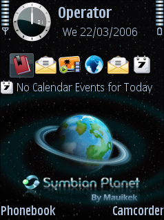 Symbian Planet (With New icons) Theme