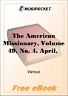 The American Missionary, Volume 49, No. 4, April, 1895 for MobiPocket Reader