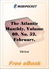 The Atlantic Monthly, Volume 09, No. 52, February, 1862 for MobiPocket Reader