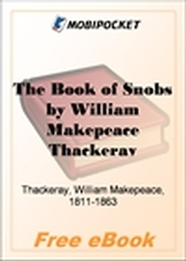The Book of Snobs for MobiPocket Reader