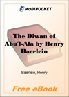 The Diwan of Abu'l-Ala for MobiPocket Reader