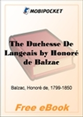 The Duchesse De Langeais for MobiPocket Reader