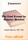 The Fool Errant for MobiPocket Reader