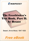 The Freethinker's Text Book, Part II for MobiPocket Reader