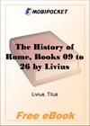 The History of Rome, Books 09 to 26 for MobiPocket Reader