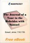 The Journal of a Tour to the Hebrides with Samuel Johnson for MobiPocket Reader