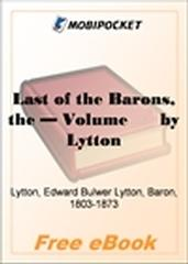 The Last of the Barons, Volume 12 for MobiPocket Reader
