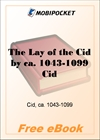 The Lay of the Cid for MobiPocket Reader