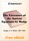 The Literature of the Ancient Egyptians for MobiPocket Reader
