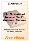The Memoirs of General W. T. Sherman, Volume I, Part 2 for MobiPocket Reader