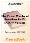 The Prose Works of Jonathan Swift - Volume 09 for MobiPocket Reader
