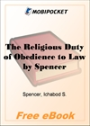 The Religious Duty of Obedience to Law for MobiPocket Reader
