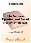 The Satires, Epistles, and Art of Poetry for MobiPocket Reader