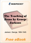 The Teaching of Jesus for MobiPocket Reader