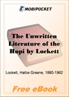 The Unwritten Literature of the Hopi for MobiPocket Reader