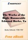 The Works of the Right Honourable Edmund Burke, Vol. I for MobiPocket Reader
