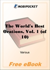 The World's Best Orations, Vol. 1 for MobiPocket Reader