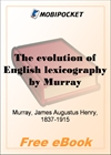 The evolution of English lexicography for MobiPocket Reader