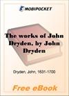 The works of John Dryden for MobiPocket Reader