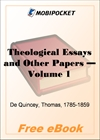 Theological Essays and Other Papers - Volume 1 for MobiPocket Reader