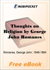 Thoughts on Religion for MobiPocket Reader