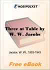 Three at Table The Lady of the Barge and Others, Part 12 for MobiPocket Reader