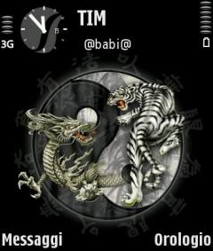 Tiger and Dragon Theme for Nokia N70/N90
