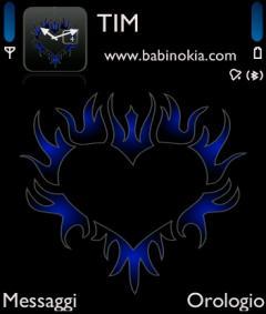 Tribal Heart Blue Theme