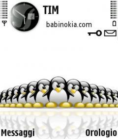 Tux Army White Theme for Nokia N70/N90
