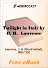 Twilight in Italy for MobiPocket Reader