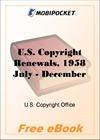 U.S. Copyright Renewals, 1958 July - December for MobiPocket Reader