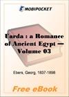 Uarda : a Romance of Ancient Egypt - Volume 03 for MobiPocket Reader