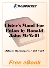 Ulster's Stand For Union for MobiPocket Reader