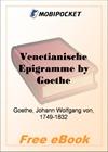 Venetianische Epigramme for MobiPocket Reader