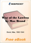 Way of the Lawless for MobiPocket Reader
