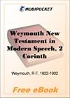 Weymouth New Testament in Modern Speech, 2 Corinthians for MobiPocket Reader