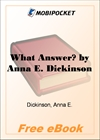 What Answer? for MobiPocket Reader
