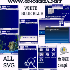 White Blue Blue Theme