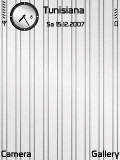 White Metal Stripes SVG Theme