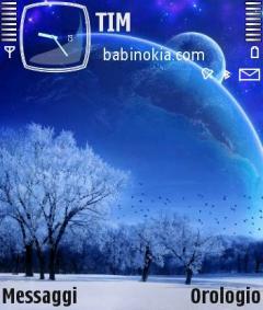 Winter Moon Theme for Nokia N70/N90