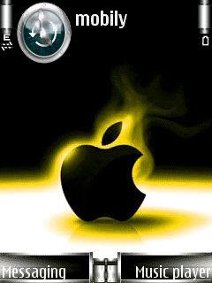 Animated Black Apple