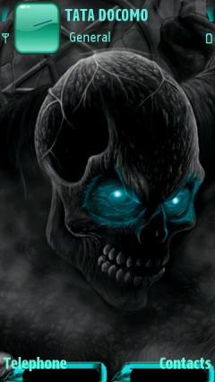 Animated Dark Skull