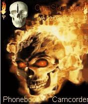 Animated Fire Skull