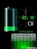 animated green battery calender nokia