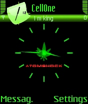 Animated Green Clock