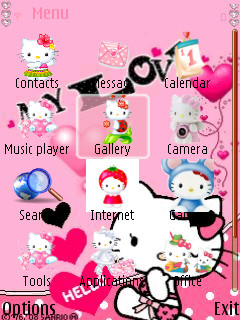 Animated Hello Kitty For Nokia N82 Free Download In Themes