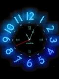 animated neon clock