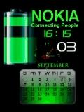 ANIMATED NOKIA CLOCK GREEN