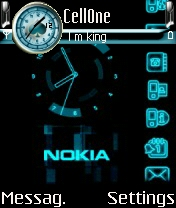 Animated Nokia Clock