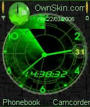 Animated Radar Clock